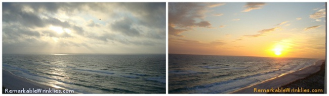 A photographer's golden hours - sunrise and sunset.