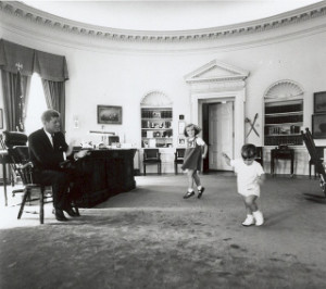 Kennedy kids in the white house